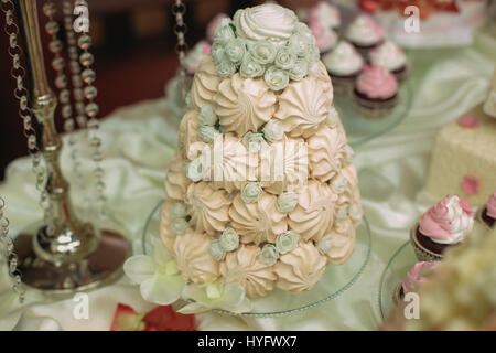 sweets at a wedding table - Stock Photo
