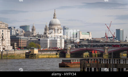 St Paul's Cathedral in London City Skyline. - Stock Photo
