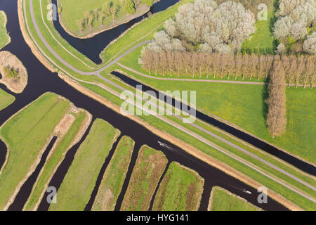 NORTHERN HOLLAND: Land has been cleverly reclaimed by the creation of canals. A BRIT has taken extraordinary pictures - Stock Photo
