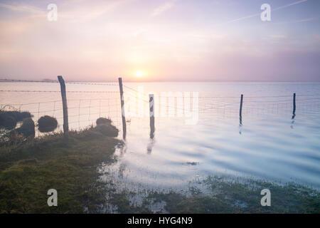 Dawn over Crowdy Reservoir on Bodmin Moor