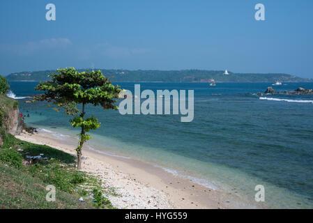 Sri Lanka, Port city of Galle aka Gimhathiththa, located on the southwestern tip of Sri Lanka. Coastal view from - Stock Photo