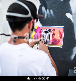 Mural Painter - Stock Photo