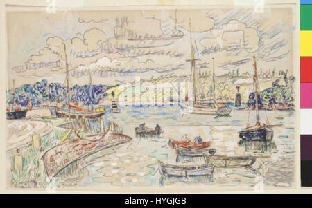 Paul Signac 11. 11. 1863 15. 8. 1935   Lezardrieux - Stock Photo