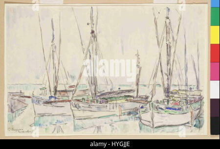 Paul Signac 11. 11. 1863 15. 8. 1935   Lomalo - Stock Photo