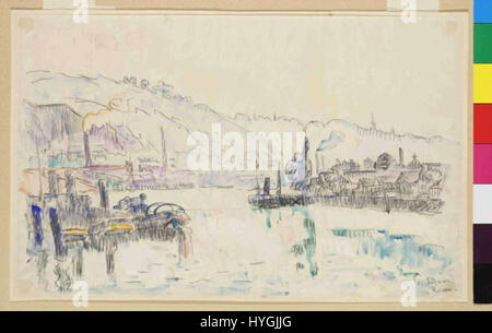 Paul Signac 11. 11. 1863 15. 8. 1935   Rouen - Stock Photo