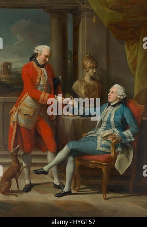 Pompeo Batoni   Sir Sampson Gideon and an unidentified companion   Google Art Project - Stock Photo