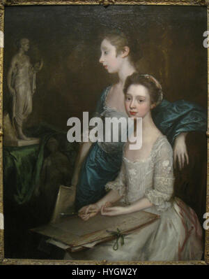 Portrait of the Artist's Daughters, probably early 1760s, by Thomas Gainsborough (1727 1788)   IMG 7281 - Stock Photo