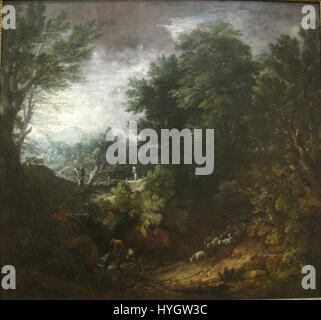 A Grand Landscape, probably early 1760s, by Thomas Gainsborough (1727 1788) IMG 7309 - Stock Photo