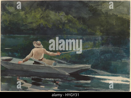 Winslow Homer   Casting, Number Two (1894) - Stock Photo