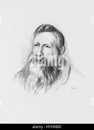 Pierre Auguste Renoir (1841 1919)   Auguste Rodin - Stock Photo