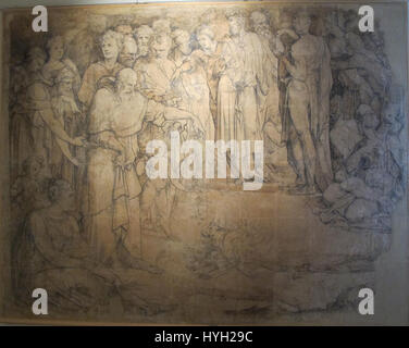 Beccafumi, cartone per pavimento duomo diena, 1529 1531, 03 - Stock Photo