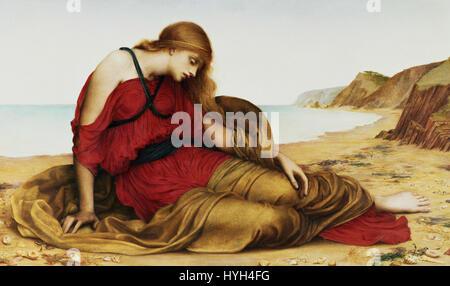 Ariadne in Naxos, by Evelyn De Morgan, 1877 - Stock Photo