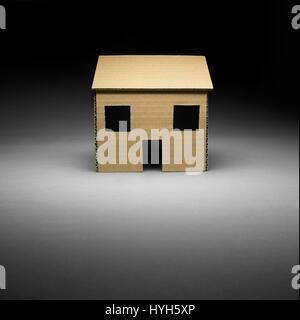 Cardboard House - Stock Photo