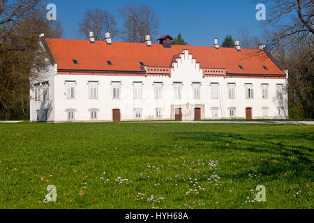 Novi Dvori Castle built in the 16th century in Zapresic, Croatia. Photo was taken after restoration which was finished - Stock Photo