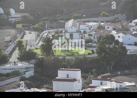 Aerial photograph of Spanish city - Stock Photo