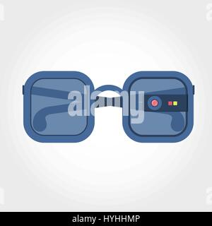 Virtual reality glasses. Glasses coupled to a virtual reality equipment. - Stock Photo