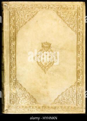 Front cover of 1632 edition of 'Dialogo di Galileo Galilei Linceo, matematico sopra ordinario' (Dialogue Concerning - Stock Photo