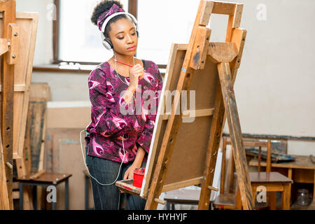 Student drawing at the university - Stock Photo