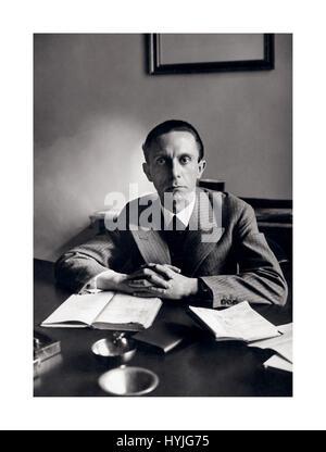 GOEBBELS 1930's portrait of Joseph Goebbels the German wartime Minister of Nazi Propaganda - Stock Photo
