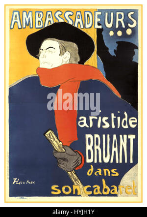 Ambassadeurs 19th century art painting by renowned French artist Toulouse Lautrec - Stock Photo