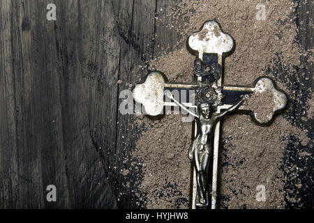 Cross And Ash Symbols Of Ash Wednesday Stock Photo 134595256 Alamy