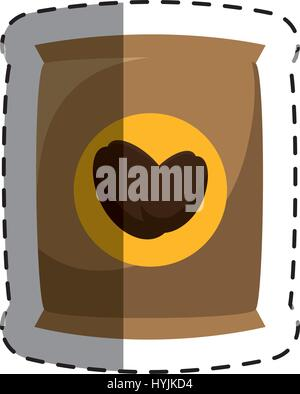 coffee bag product icon vector illustration design - Stock Photo