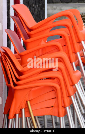 Stacked Chairs - Stock Photo