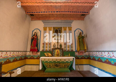 Vallejo's chapel, Mission San Francisco Solano, Mission San Francisco Solano de Sonoma, Sonoma, Sonoma County, California - Stock Photo