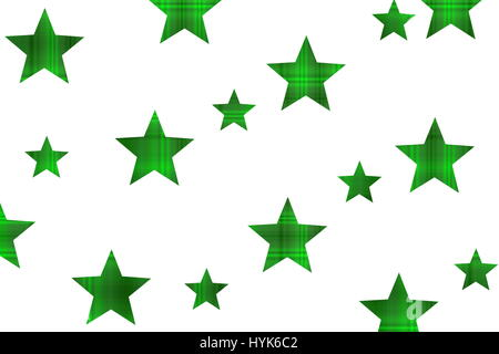 Checkered stars on a white background - Stock Photo