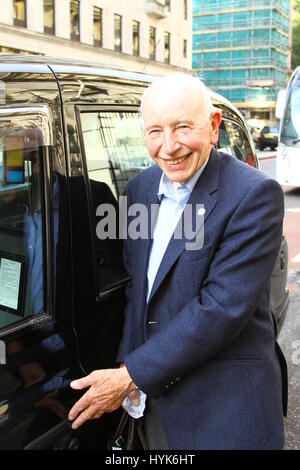 John Surtees pictured in Victoria, London on 3rd October 2014. - Stock Photo