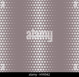 Isolated abstract grey color starlike pattern, seamless texture vector illustration - Stock Photo