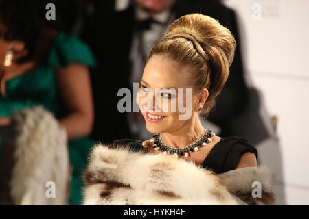 Berlin, Germany, Febraury 10th, 2014: Ornella Muti attends the 'Cinema for Peace' gala. - Stock Photo