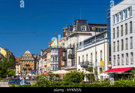 View of Konstanz city center - Germany - Stock Photo