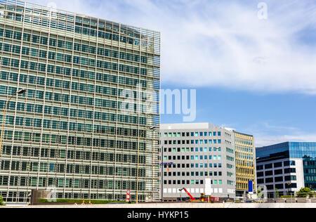 Buildings in European Quarter of Brussels - Belgium - Stock Photo