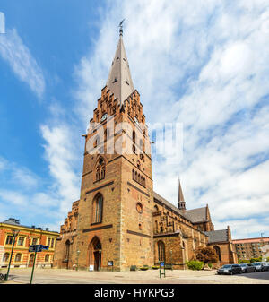 View of St Petri Cathedral in Malmo, Sweden - Stock Photo