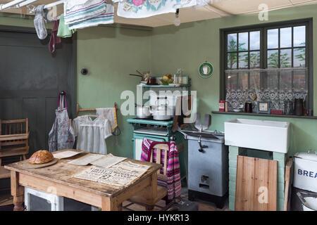 Garden 1930s Kitchen Dining Room Milestones Museum Basingstoke Hampshire UK