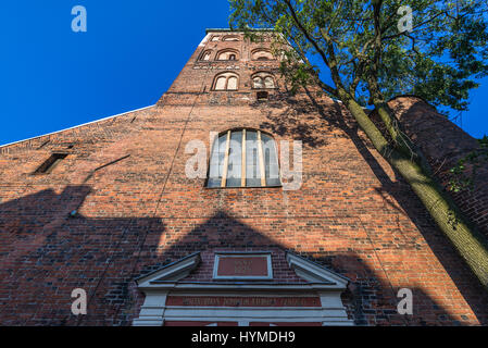 Roman Catholic St James's Cathedral located on the Old Town of Riga, capital city of Republic of Latvia - Stock Photo