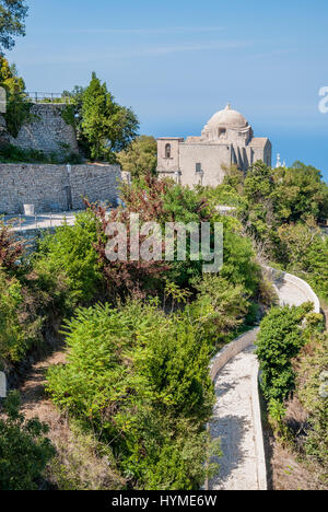 The Church of St. John the Baptist in Erice, province of Trapani in Sicily, Italy - Stock Photo