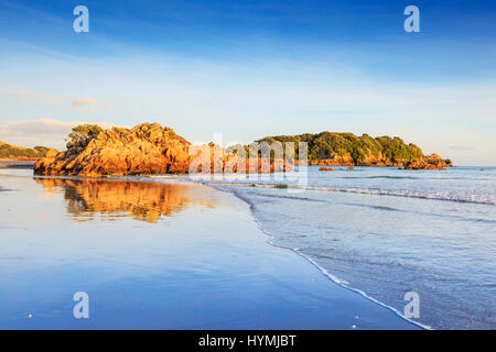 Beach,  Mount Maunganui, Bay of Plenty, New Zealand. This is a very popular beach resort in New Zealand's North - Stock Photo