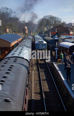 Carriages at Bewdley Station. Severn Valley Railway. Bewdley. Worcestershire - Stock Photo