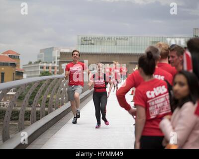 Crisis Square Mile Run 2016, Relay and Campaign to end homelessness, London, United Kingdom - Stock Photo