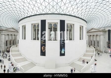British Museum, Great Court in London, England, United Kingdom - Stock Photo