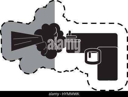 Pistol Gun Icon Outline Style Stock Vector Art Illustration