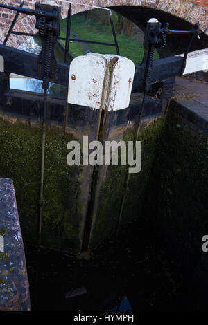 Lock at Gothersley, Staffordshire & Worcestershire Canal - Stock Photo