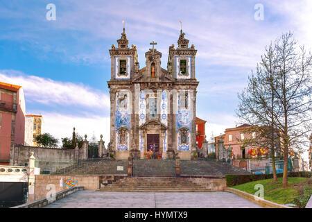 Church Igreja de Santo Ildefonso, Porto, Portugal - Stock Photo