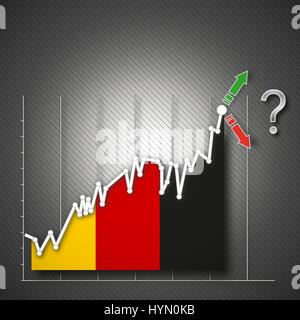 Germany flag als stock exchange, illustration - Stock Photo