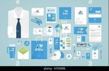 Business design. Corporate identity template. Logo, label, brand promotion. Vector illustration - Stock Photo