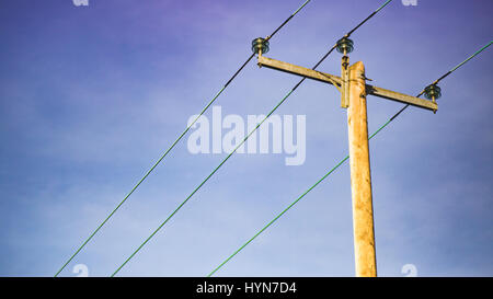a post with electrical wires Stock Photo, Royalty Free Image ...