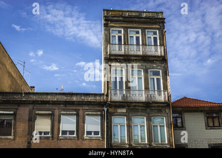 Town houses on Rua de Dom Manuel II street in Porto city on Iberian Peninsula, second largest city in Portugal - Stock Photo