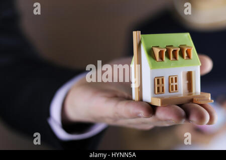 hand house agent - Stock Photo